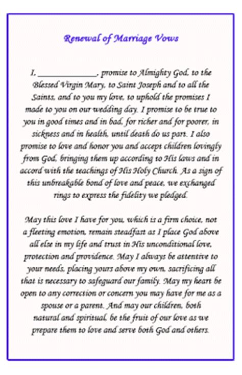 Catholic Wedding Vows by Renewal Of Wedding Vows Wedding Vows