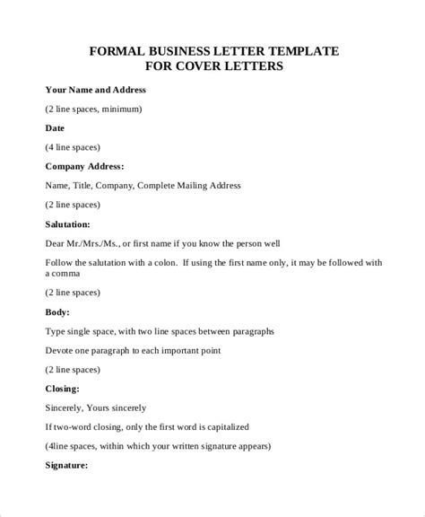 Official Business Letter Pdf Formal Letter Sle Template 70 Free Word Pdf Documents Free Premium Templates