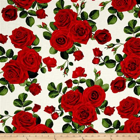 pattern for fabric roses timeless treasures glamour spaced roses cream discount