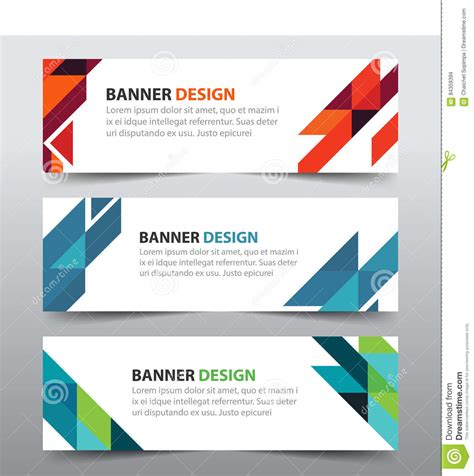 layout design for banner colorful abstract triangle corporate business banner