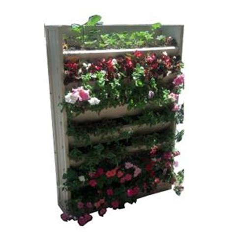 Vertical Garden Planters Home Depot New Age Garden 33 1 In W X 8 3 In D X 45 3 In H Resin