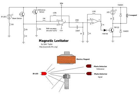 proteus photoresistor magnetic levitation circuit