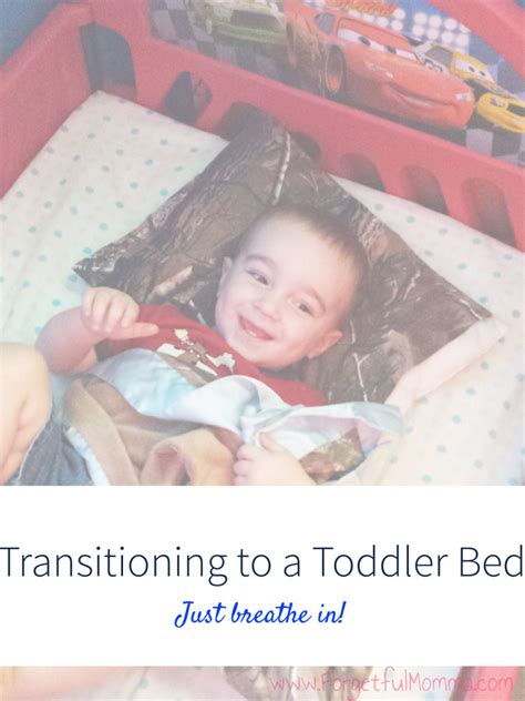 transitioning to a toddler bed forgetful momma