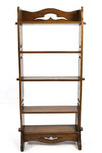 Narrow Open Bookcase Antique Oak Arts And Crafts Narrow Open Bookcase