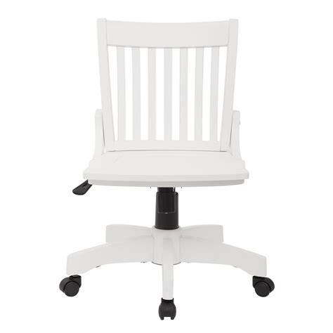 white wooden desk chair with wheels bruin