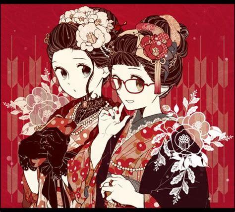 kimono pattern pixiv 995 best anime kimono images on pinterest anime girls