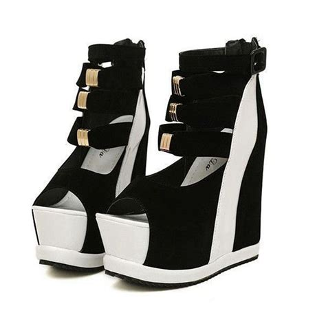 Sandal Bigsize big size platform wedge sandals high heels open toe