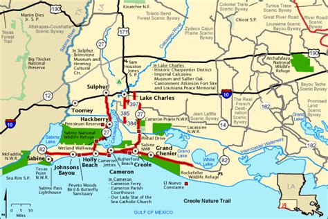 louisiana byways map creole nature trail map america s byways