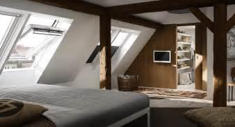 bett unterm dachfenster dachausbau ideen f 252 r schlafzimmer velux dachfenster