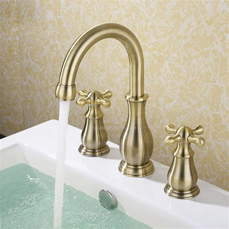 antique brass finish bathroom faucets antique brass finish widespread installation rotatable