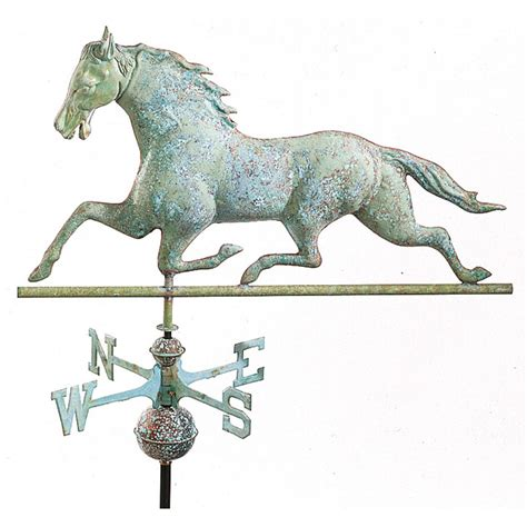 horse and sulky weathervane copper with directions mid to full size good directions horse weathervane polished