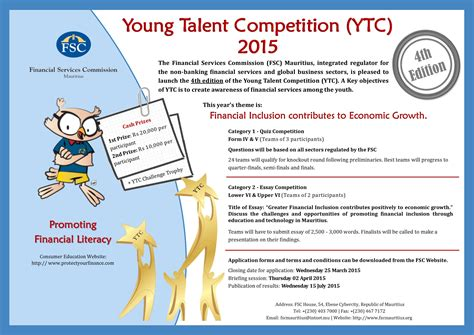 competition 2015 theme talent competition financial services commission