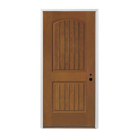 Shop Pella Left Hand Inswing Provincial Stained Fiberglass Pella Exterior Door