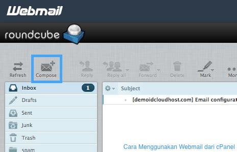 Cara Membuat Email Roundcube | cara menggunakan webmail dari cpanel idcloudhost