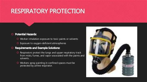 spray painter lungs personal protective equipment