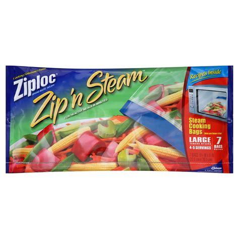 ziploc zip n steam cooking bags steam large 7 bags
