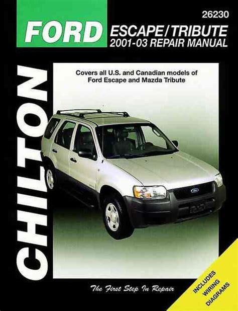small engine service manuals 2001 mazda tribute electronic throttle control ford escape mazda tribute 2001 2003 chilton owners service repair manual 1620920808
