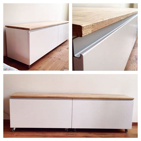 ikea ikeahack 2 metod cabinets with nodsta doors idee - Sitzbank Flur Ikea