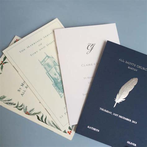 order wedding invitations order of service wedding invitations wedding stationery