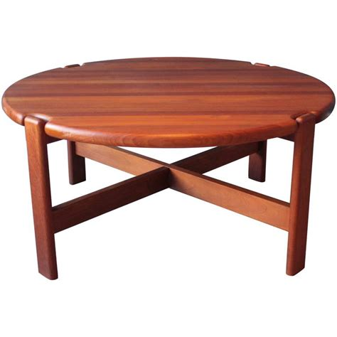 scandinavian coffee table in solid teak 1970s for