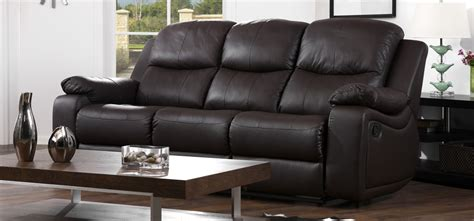 cheap couches montreal montreal espresso brown reclining 3 seater leather sofa