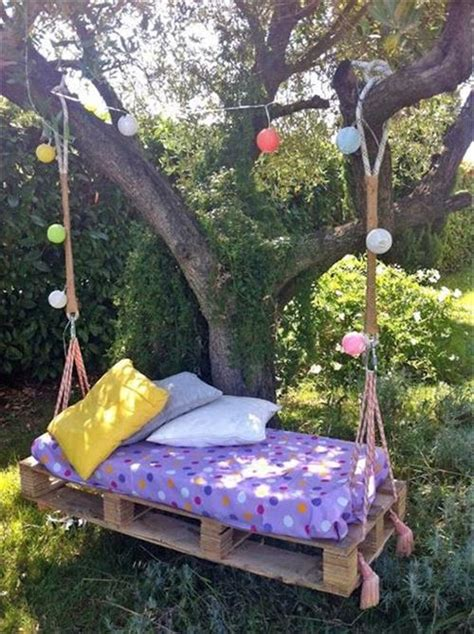 garden swing diy diy wooden pallet swing for your house pallets designs