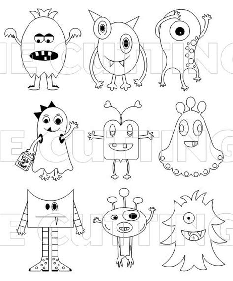 love monster coloring page monsters so cute and easy design ideas and divine