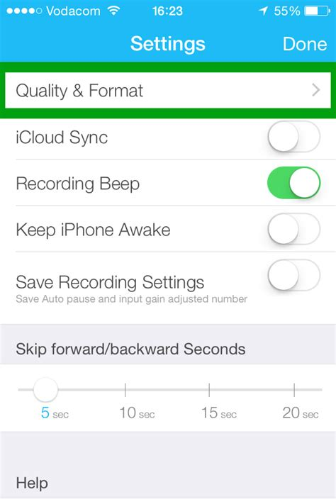 video format quality list recording great audio on ios devices all the world