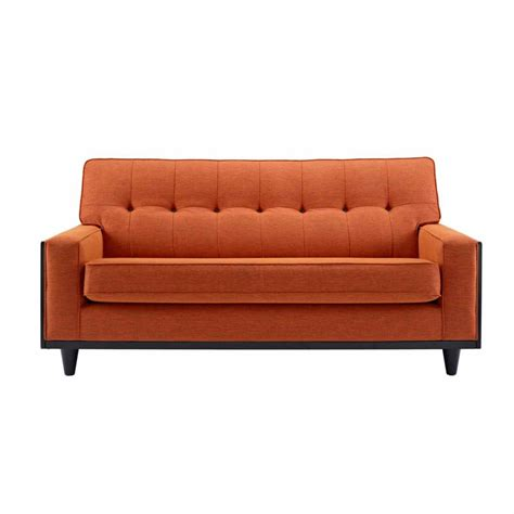 orange loveseat light orange vintage loveseat for bedroom with square