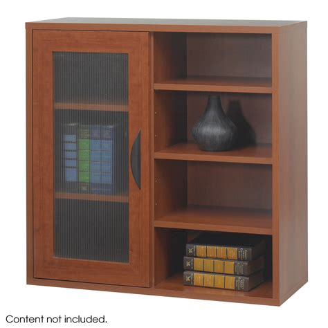 open front storage cabinets safco apres modular storage single door cabinet w open
