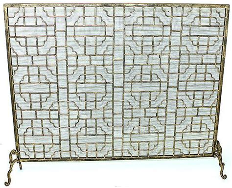 Antique Gold Fireplace Screen by Palais Antique Gold Geometric Fireplace Screen