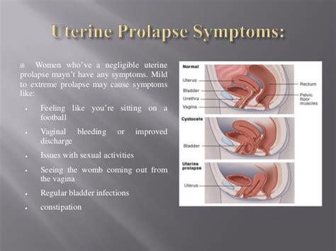 Prolapsed Bladder Prolapse Symptoms   uterine prolapse symptoms and diagnosis