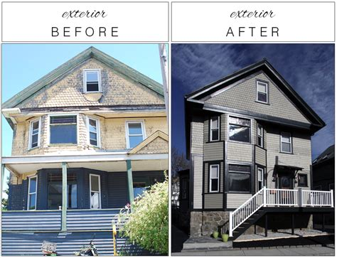 before and after home home exterior renovation before and after best 25 exterior