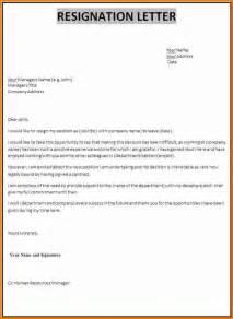 Resignation Letter School Reason by Resignation Letter Sle Reason For Leaving Sle Customer Service Resume