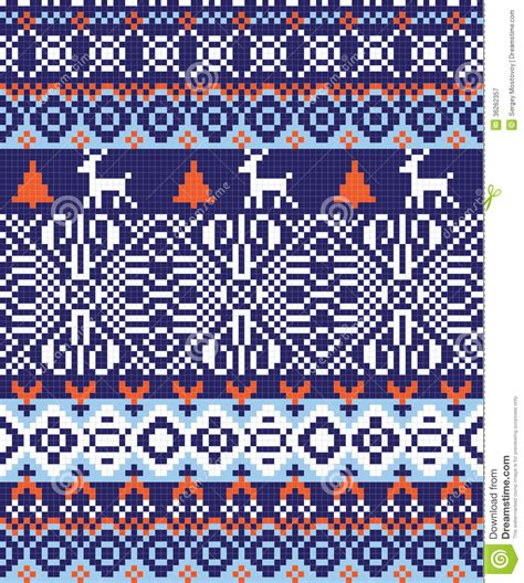 blue nordic pattern nordic pattern background stock vector illustration of