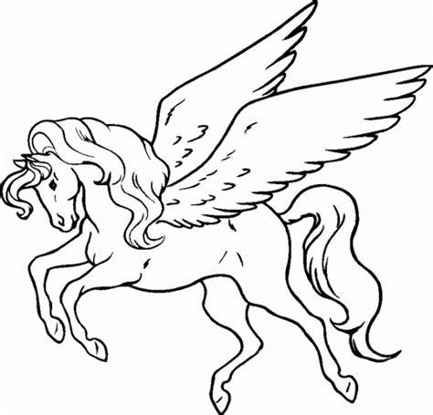 winged horse coloring page winged horse colouring page google search paper craft