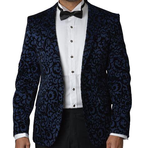 pattern shirt with blazer mens delux velvet floral detail blazer ob116 the shirt