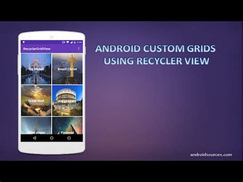 android custom view android custom grid using recyclerview tutorial material design