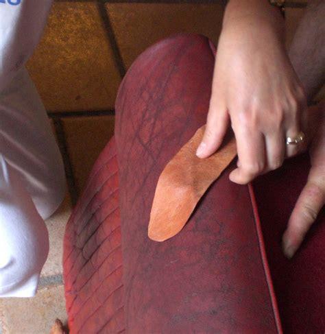reparer griffe de sur canape en cuir mobilier table r 233 parer un canap 233 en cuir d 233 chir 233