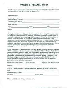 Waiver Templates by Release Waiver Template Free Printable Documents