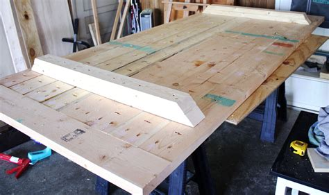 home made kitchen table how to build a farmhouse table
