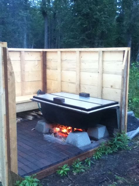 outdoor bathtub wood fired 1000 images about wood fired hot tub on pinterest
