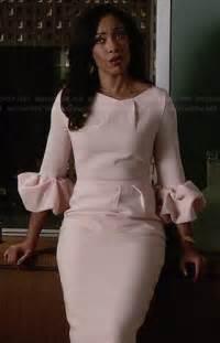 wornontv jessica s pink ruffled sleeve dress on suits