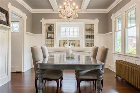 beautiful neutral dining room ideas neutral and chic palette wainscoting and built ins make a