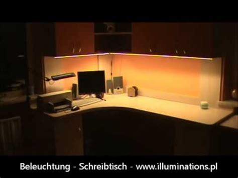 schreibtisch led beleuchtung praktischer einsatz led streifen smd5630 beleuchtung