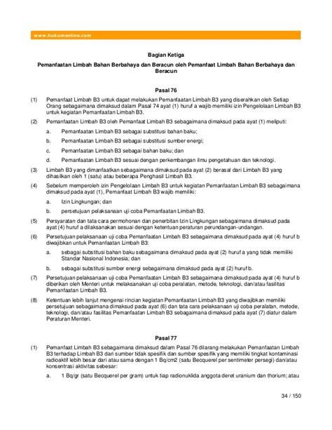 Hpu Himpunan Peraturan Pengelolaan Limbah Bahan Berbahaya Beracun pp no 101 2014 tentang pengelolaan limbah bahan berbahaya dan beracun
