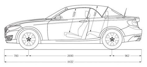 Bmw 1er Coupe Abmessungen by Bmw 2er Cabrio F23 Abmessungen Technische Daten