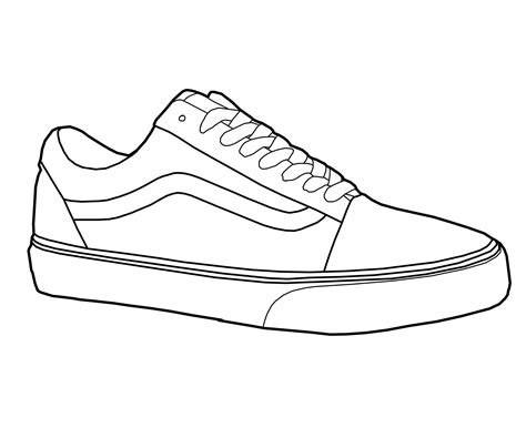 coloring pages of vans shoes drawn shoe vans logo pencil and in color drawn shoe vans