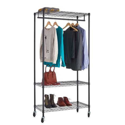 18x48 3 tier black wire clothes rack wire shelf additions