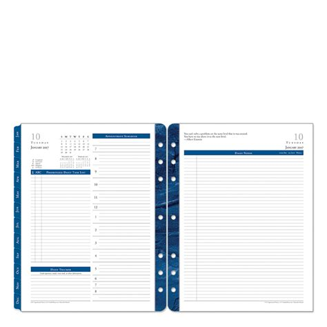 monticello ring bound daily planner franklincovey